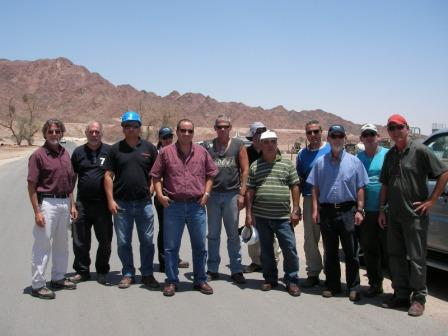 Visitors from Mekorot, Israel water co